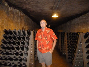 In the Moet et Chandon Champagne cellars, Epernay.