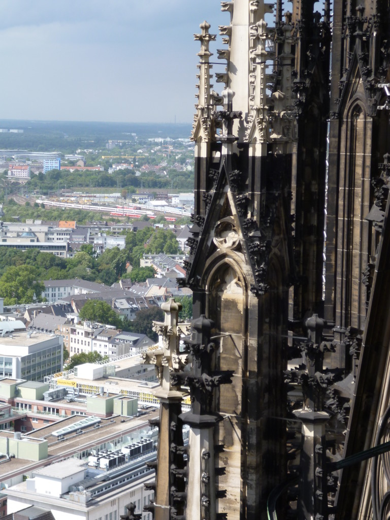 Cologne from the cathedral tower, 570 feet above street level.